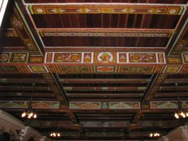 Wakulla Springs Lodge, Painted Ceiling 3 by RobMitchem