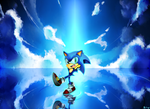 Blue World, Blue Hedgehog by Baitong9194