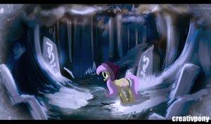 Flutter Shy Snow Paradise by CreativPony