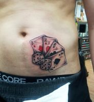 Playing Card's and dice by Ashtonbkeje