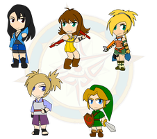 Assorted Chibis - Final Fantasy and Then Some by Dragon-FangX