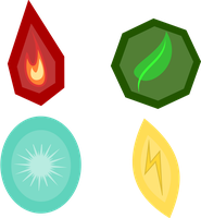 Elemental Gem Cutie Marks (closed) by demonreapergirl