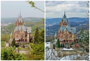 ~ Drachenfels - Summer and Winter ~ by JoJoAsakura