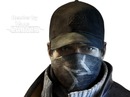 Watch Dogs - Aiden Pearce Face Render by VaasCARV3R