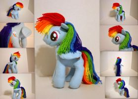 Rainbow Dash Plushie V2 by DogerCraft