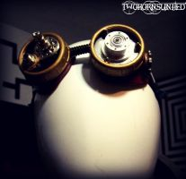 ''The engineer'' steampunk goggles by TwoHornsUnited