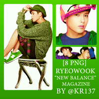 [Pack 8 PNG RENDER] Ryeowook from new balance by Kr137