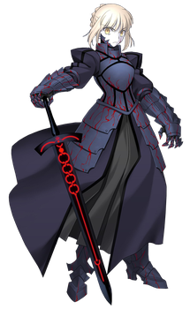 Saber Alter PNG by Mikaya-chan