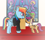 Dash and Scootaloo Getting Married by Alexstrazse