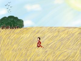Sauntering Through Fields, Busy With the Clouds by TheRandomPhangirl