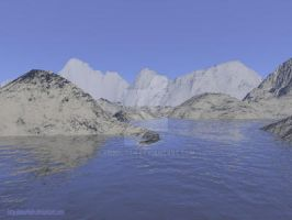 Lake in mountains by Anarloth