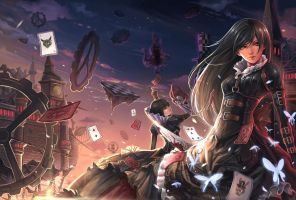 Alice Madness Returns and the Queen Of Hearts by ILovePandora-Hearts