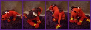 FF7: RedXIII the Plushie by VesteNotus