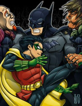 Morrison Bats and Robin by lordmesa