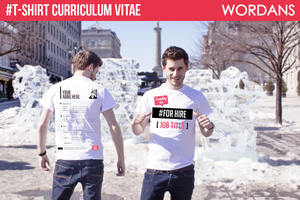 T-shirt Curriculum Vitae - Tee shirt CV by wordanscustomtshirts