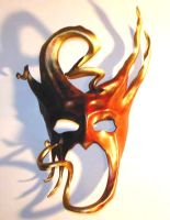Curled Horns Leather Mask by teonova