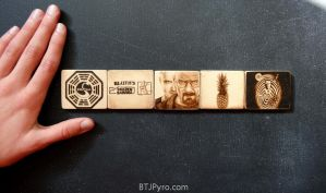 TV shows mini woodburnings by brandojones