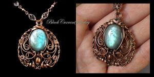 Byzantine Pendant by blackcurrantjewelry
