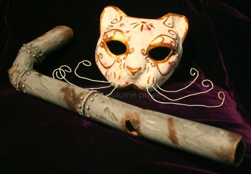Splicer Mask and Lead Pipe by AutumnPhyre
