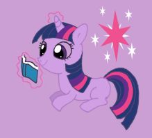 Twilight Sparkle filly by Hiddenwithinthunder
