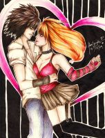 L is for L loves Misa by rianbowart