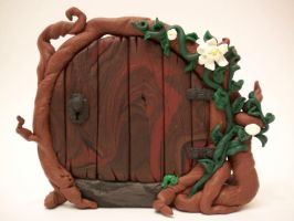 Lotus Vine Fairy Door 3 by KimsButterflyGarden