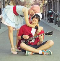 You're mine (Yuno x Yukki, Mirai Nikki, Rocker) by Doriri-chan