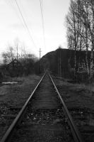 Railroad to nowhere, bw by Datasmurf