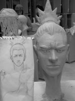 Shikamaru Face Sculpture .:Front:. by Shikamari405