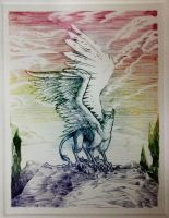 Gryphon Coloured Printout by ModNight