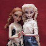 DISNEY FROZEN ANNA AND ELSA OOAK by ero-nel