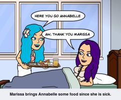 Marissa loves being there for her friends by AngelAmethyst