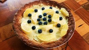 Orange and Blueberry Tart - Full View by Danika-Stock