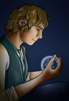 Bilbo and the Arkenstone by kenobisunryder