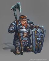 Dwarf With Axe by yoggurt
