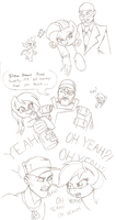 Ponies n' TF2 by Joey-Darkmeat