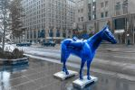 blue Chicago horse - tribute to Franz Marc by Rikitza