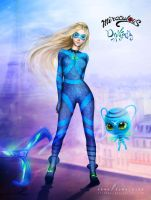 Miraculous Dragonfly -  daughter of Lady Noir by cylonka