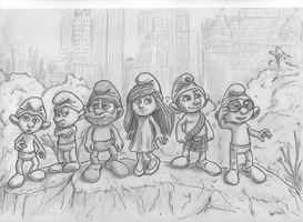 smurfs from the movie by SGismyname