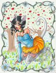 Snow White Kitty by Hatter2theHare