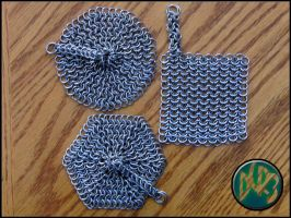 Chainmail Cast Iron Scrubbers by DCRIII