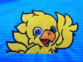 Yellow Chocobo Machine Embroidery by Li-is-Mara