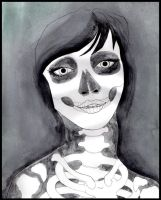 Skeletal Woman by DablurArt