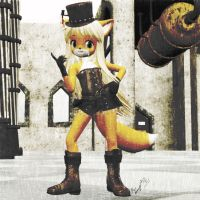 Steam Punk Anime Fox Old Pictureish by imago3d