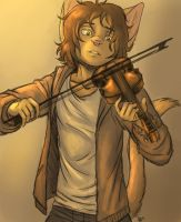 Artie and his violin by oomizuao