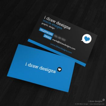 i Draw Designs Business Card by mirako-hikaru