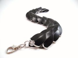 Evil Queen inspired Black Dragon Scale Bracelet by SerenityinChains