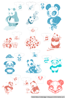 12 Panda Concepts by zombie