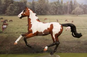 Custom Breyer Show Jumper - Bay Pinto by Izzadorable