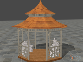 Gazebo model (XPS/Xnalara only) by MindForcet